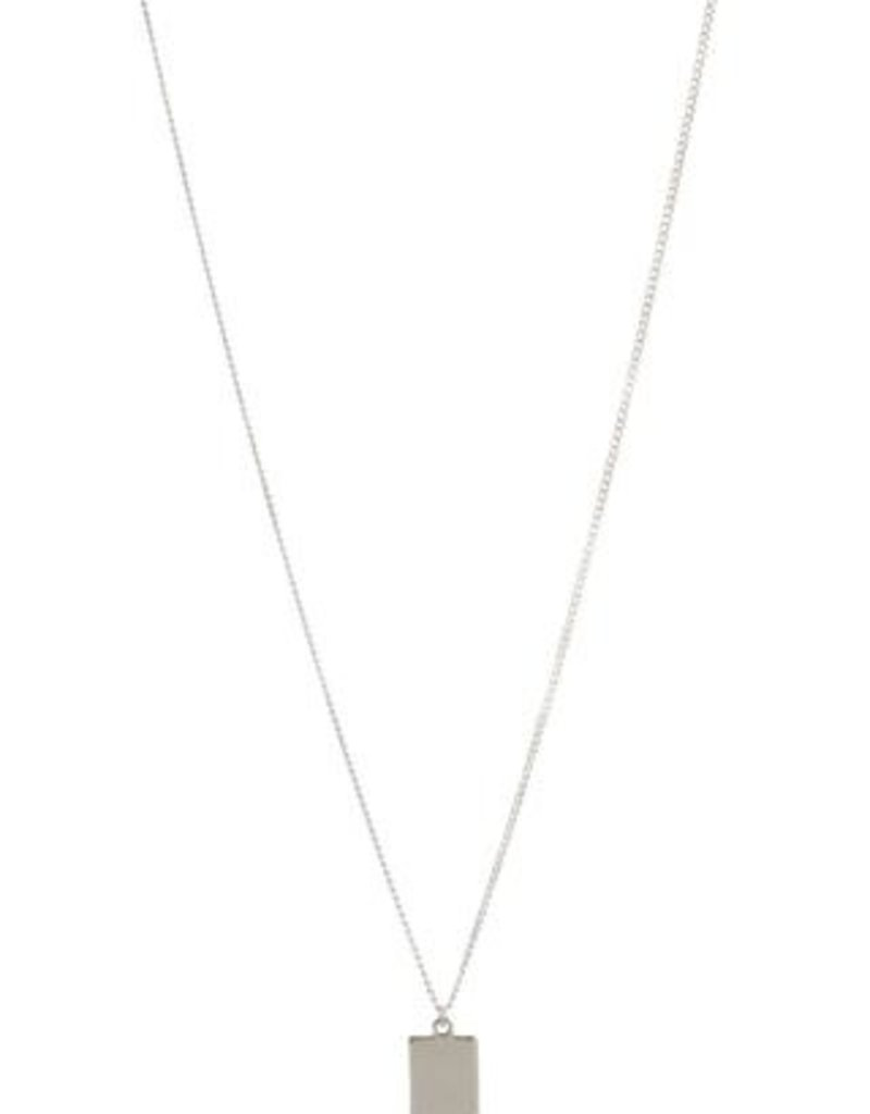 Lisbeth Sienna Necklace W/ Rectangular Pendant