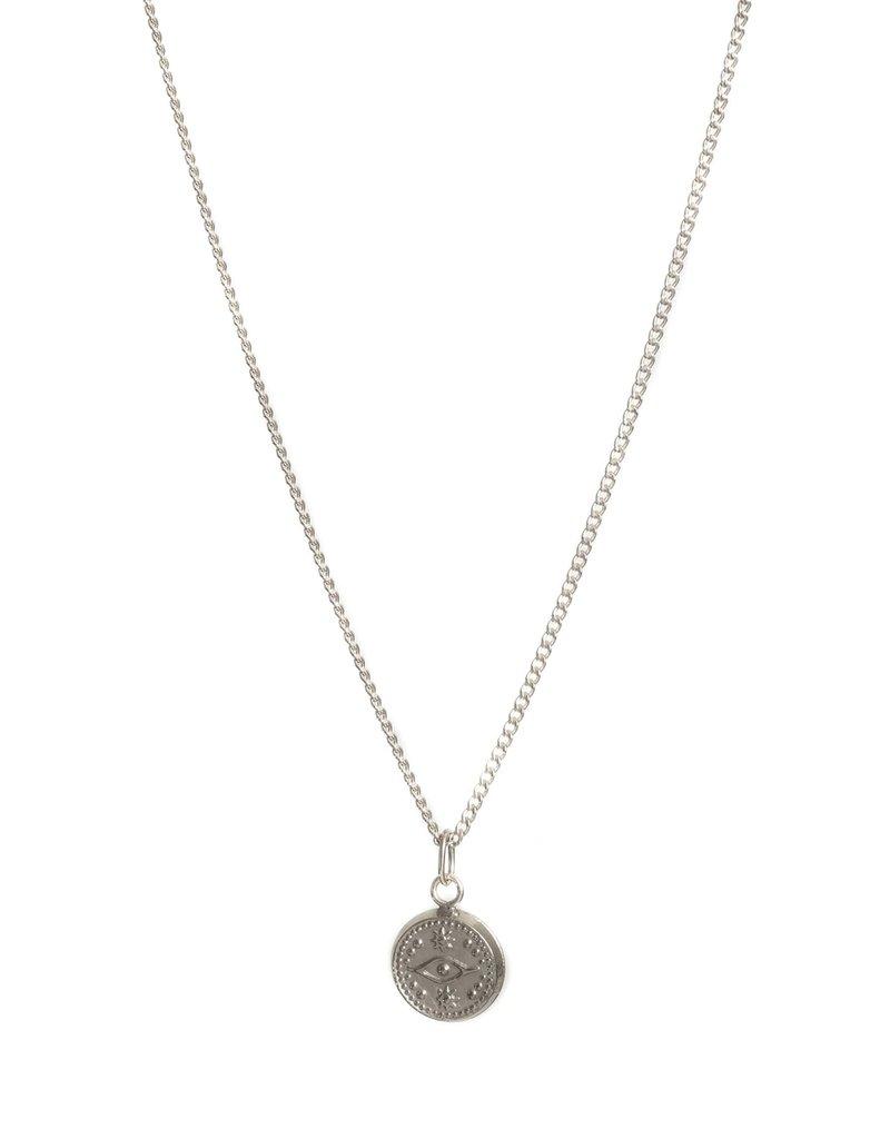 "Lisbeth Coden 18"" Necklace W/ Evil Eye Charm"