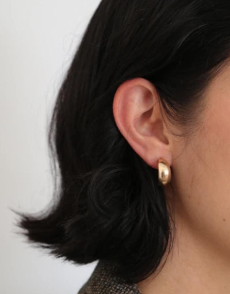 Lisbeth Hannah Earrings Vintage Arc-Hoop