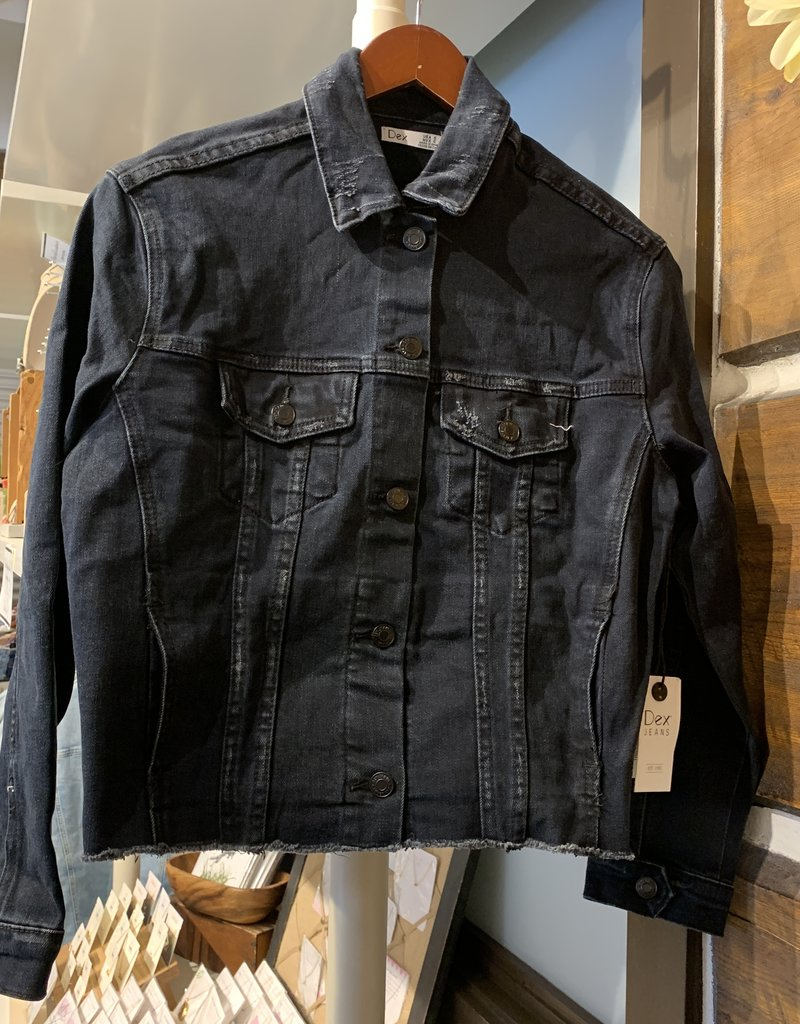 DEX Dex Jacket Cropped Raw Denim Jacket