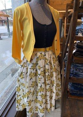 Tulip B Skirt High Waisted Floral Midi