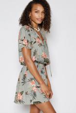 Sadie & Sage Sadie & Sage JunglAB132135 e Lover Dress AB132135 S/Slv Mini w/ Elastic Waist Floral Print