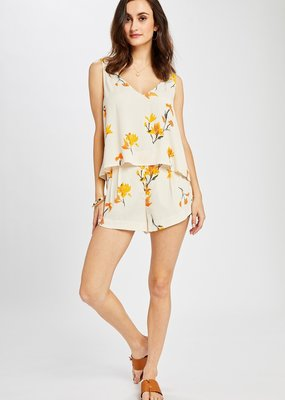GENTLE FAWN Gentle Fawn Aimee Tank Floral Slv/Lss Double V