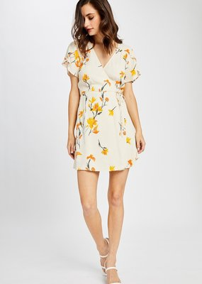 GENTLE FAWN Gentle Fawn Augustine S/Slv Floral Wrap Dress