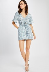 GENTLE FAWN Gentle Fawn Astral Romper S/Slv V Neck W/ Cutout & Tie