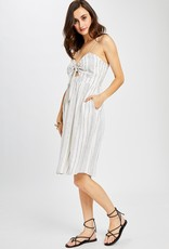 GENTLE FAWN Gentle Fawn Theresa Dress Striped S/Less Linen Midi