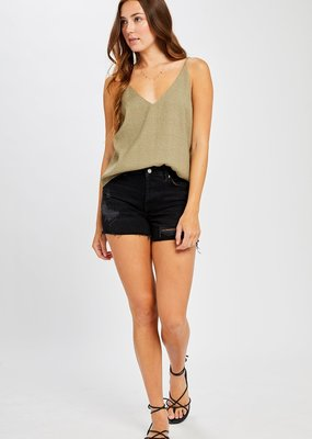 GENTLE FAWN Gentle Fawn Olivia Tank Textured Double V W/ Spaghetti Strap