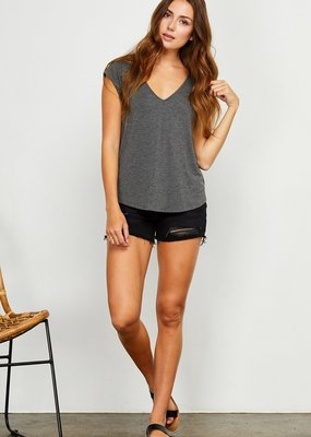 GENTLE FAWN Gentle Fawn Tee Nora Cap Slv V Neck