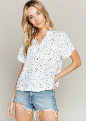 Thread and Supply Thread & Supply Moonshine Polka Dot Button Shirt
