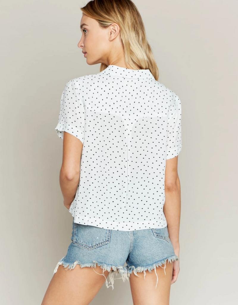 Thread and Supply Thread & Supply Moonshine Polka Dot Button Shirt