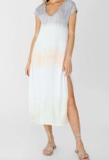 WHITE CROW White Crow Salamina Dress S/Slv Tie-Dye Midi