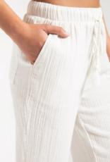 Rag Poets Rag Poets Kemala Pants Elastic Tie Waist Cropped w/ Pockets