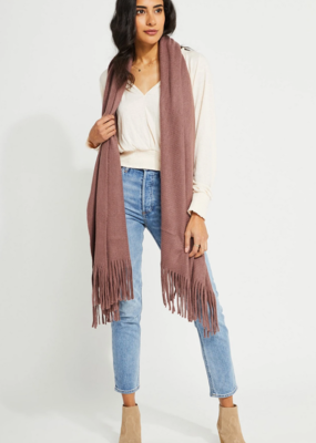GENTLE FAWN Gentle Fawn First Class Travel Wrap Scarf w/ fringe