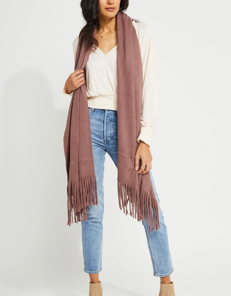GENTLE FAWN Gentle Fawn First Class Travel Wrap 4 Scarf w/ fringe