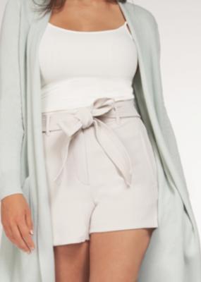 Black Tape Dex Shorts Paperbag Shorts w/ Elastic Belt & Pockets