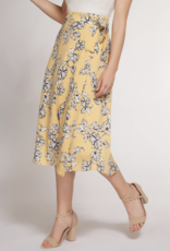 DEX Dex Skirt Wrap Midi w/ Side Tie