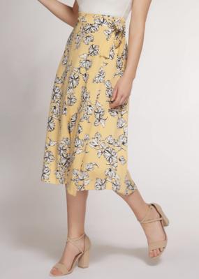 DEX Dex Skirt Wrap Midi w/ Side Tie