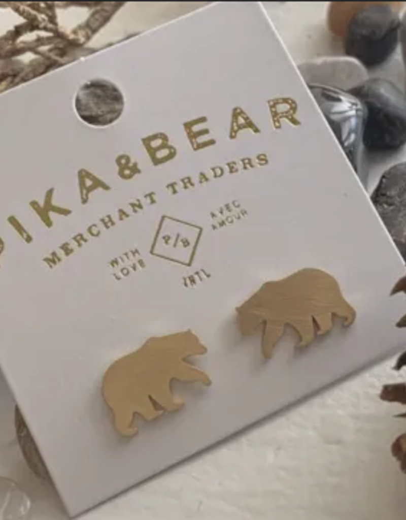 PIKA&BEAR Pika & Bear Earrings 'Snositi' Bear Studs