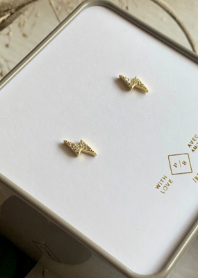 PIKA&BEAR Pika & Bear Earrings 'Ride the Lightning' Crystal Studs Crystal Studs