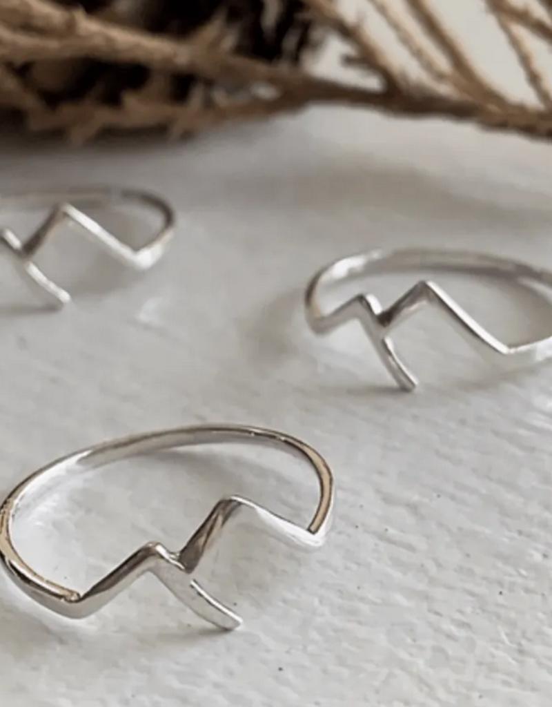 PIKA&BEAR Pika & Bear Ring 'Capilano' Mountain Range Sterling Silver