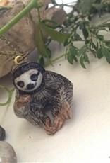PIKA&BEAR Pika & Bear Necklace 'Deadly Sin #4' Porcelain Sloth Pendant