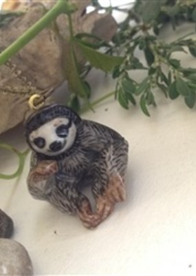 PIKA&BEAR Pika & Bear Necklace 'Deadly Sin #4' Porcelain Sloth Pendant