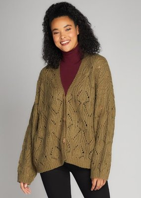 C'EST MOI C'est Moi Cable Knit Cardi w/ Toggle Buttons F'20