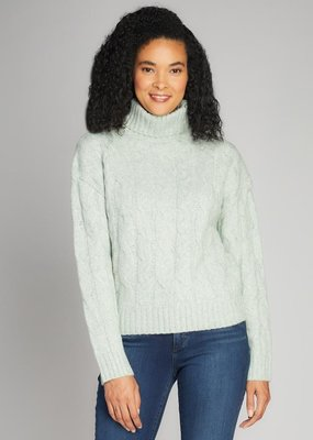 C'EST MOI C'est Moi Turtle Neck Cable Knit Sweater F'20