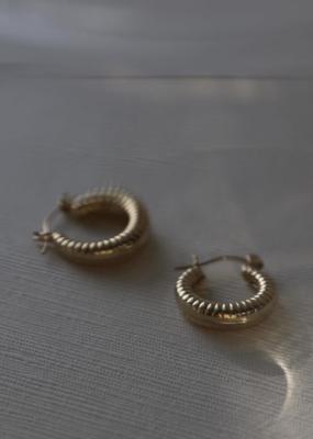 Lisbeth Earrings Cindy Textured Hoops