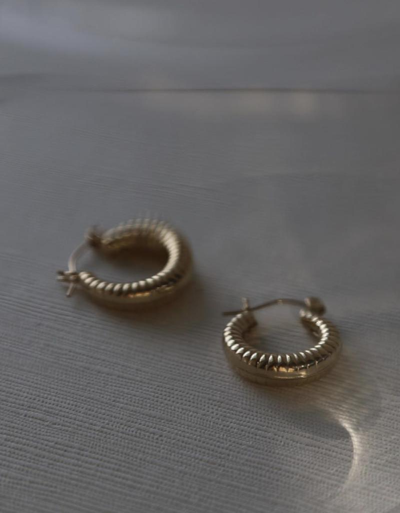 LISBETH Lisbeth Earrings Cindy Textured Hoops