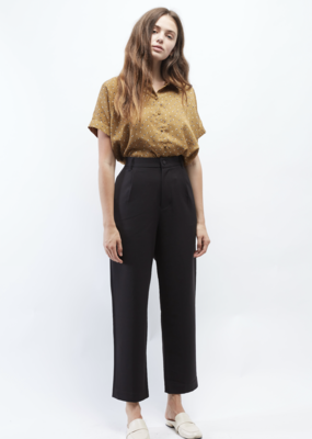 OAT NY OAT NY Easy Trouser Elastic Waist Pleat Detail F'20
