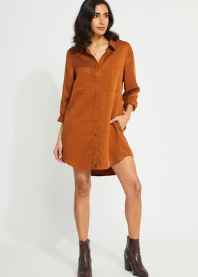 GENTLE FAWN Gentle Fawn Aiden L/Slv Button Down Shirt Dress w/ Pockets F'20
