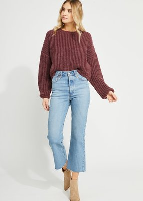 GENTLE FAWN Gentle Fawn Parvene Sweater Relaxed Cropped Pull Over F'20