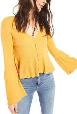 WHITE CROW White Crow Chaves Top V Neck Buttondown w/ Bell Slv F'20