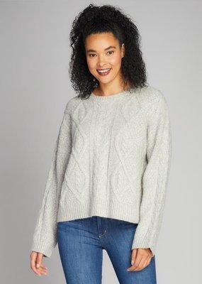 C'EST MOI C'est Moi Cable Knit Crew Neck Sweater F'20