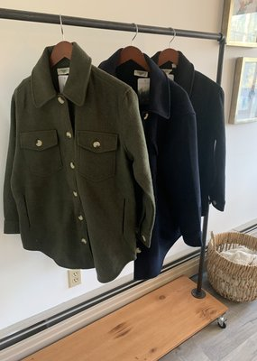 RD INTERNATIONAL Rd Int'l Collared Woven Button Down Coat F'20