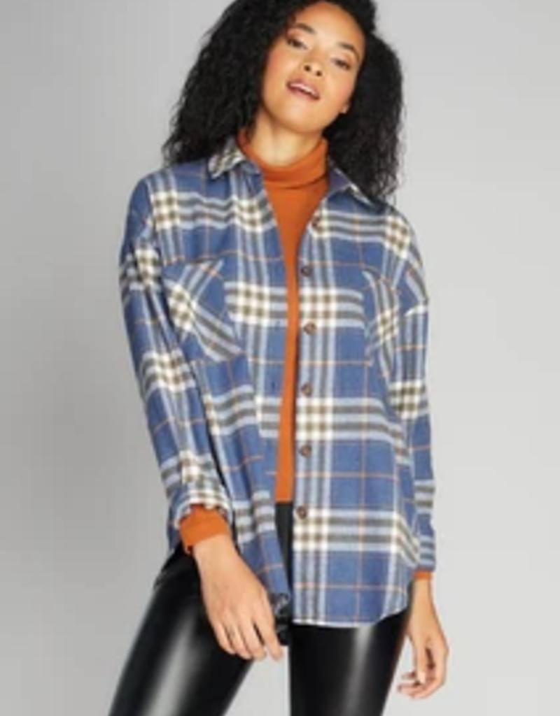 C'EST MOI C'est Moi Button-Down Oversized Plaid Shirt F'20