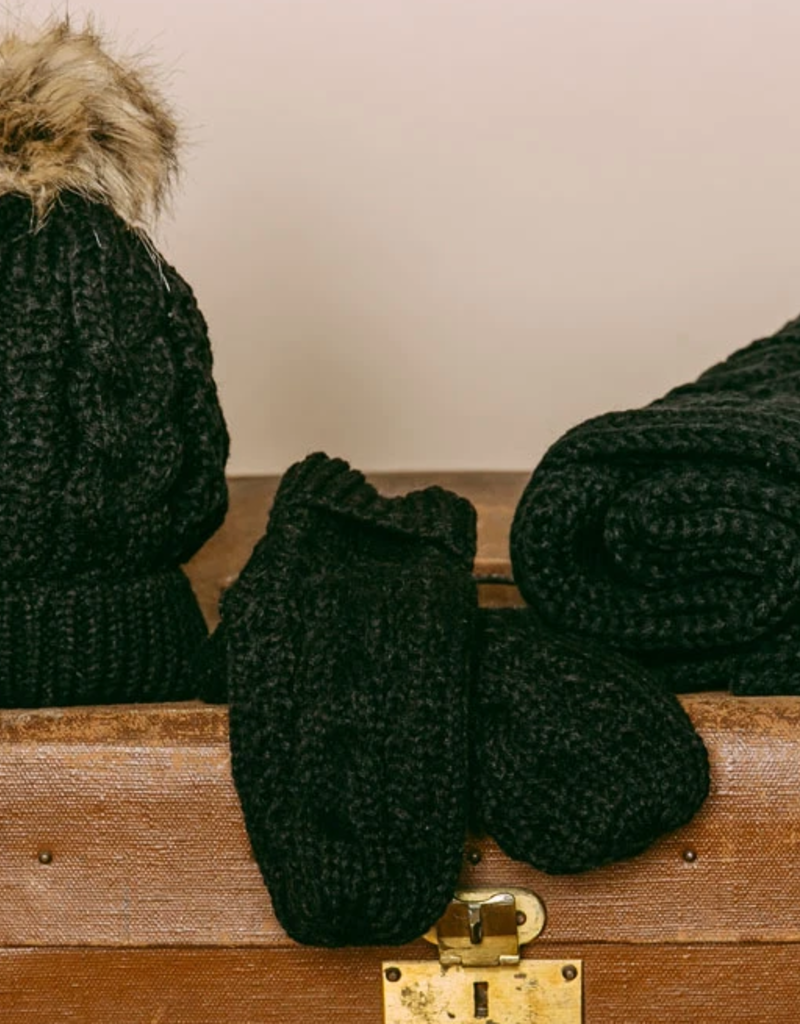 Orb Orb Marshmellow Mitten Cozy Cable Knit F'20
