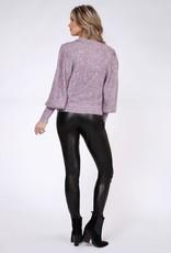 Black Tape Black Tape Sweater Mockneck Puff Slv F'20