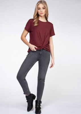 DEX Dex Top S/Slv w/ Twist Front F'20