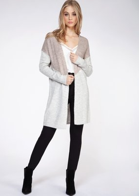 DEX Dex Cardi L/Slv Open w/ Colour Block F'20