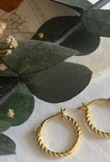 PIKA&BEAR Pika & Bear Earrings 'Helena' 11.5mm Textured Hoop