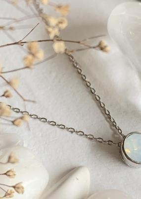 PIKA&BEAR Pika & Bear Necklace 'Solstice' Sterling Silver w/ Swarovski Crystal Charm