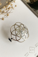 PIKA&BEAR Pika & Bear Ring 'Gaia' Flower of Life Sterling Silver Ring
