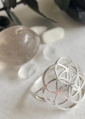 PIKA&BEAR Pika & Bear Ring 'Gaia' Flower of Life Sterling Silver Ring