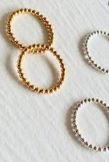 PIKA&BEAR Pika & Bear Ring 'Nala' Spinning Ball Sterling Silver Ring