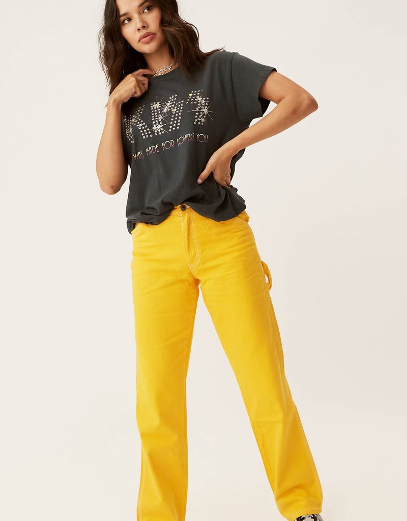 Daydreamer Daydreamer Kiss 'Loving You' Cropped Tour Tee F'20