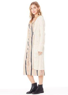 Saltwater Luxe Saltwater Luxe Ellis Cardi Chunky Longline Knit w/ Pockets