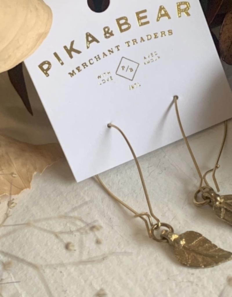 PIKA&BEAR Pika & Bear Earrings 'Blad Van Boom' Leaf Drop