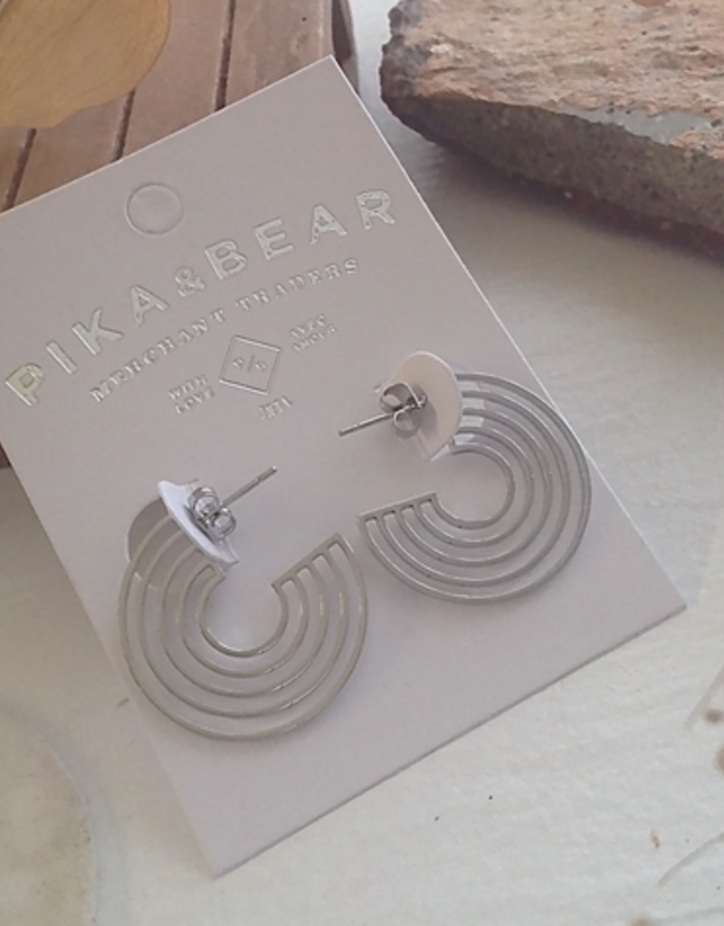 PIKA&BEAR Pika & Bear 'Lo-Fi' Hoop Stud Earrings
